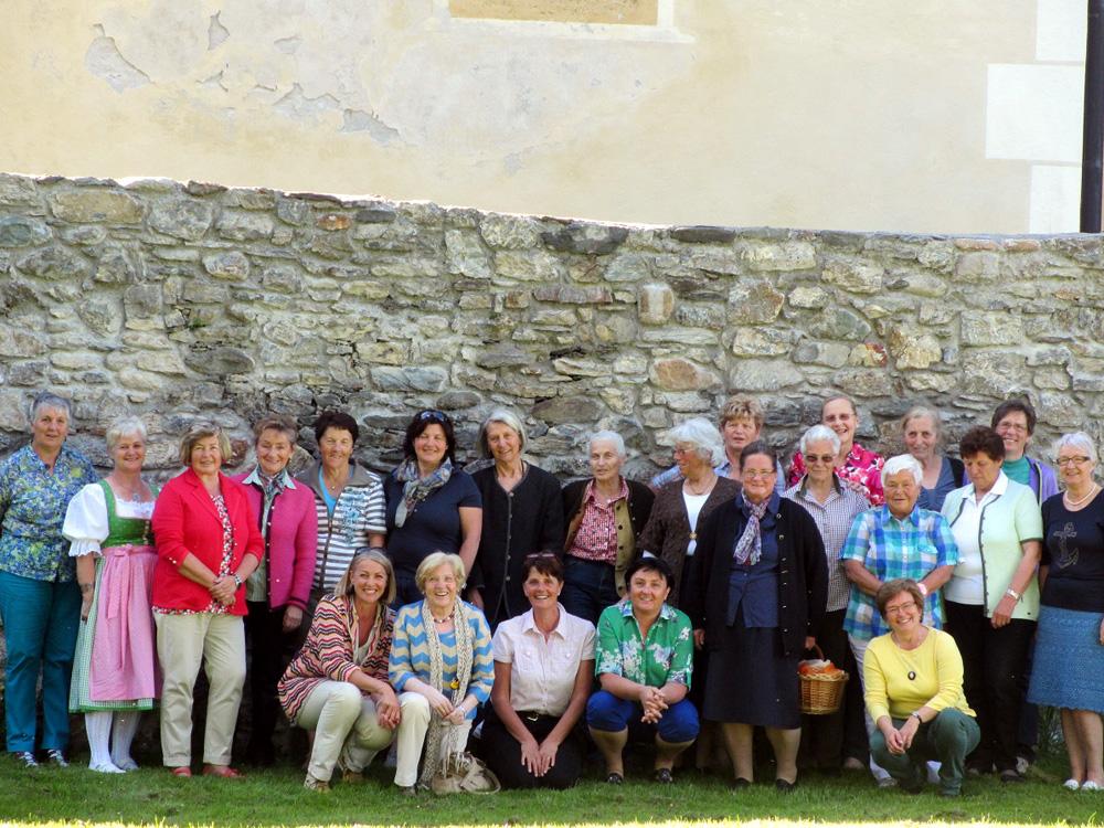 Treffen mit Strickgruppe Flachau, Schloss Höch, Mai 2013