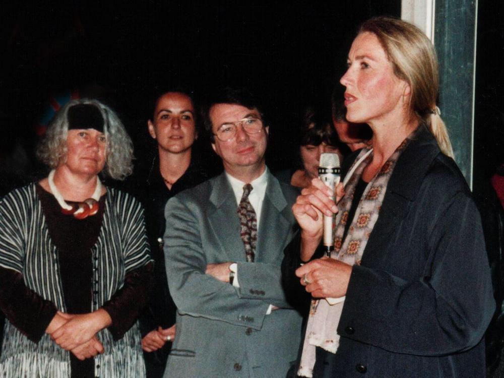 Gerard Mortier, Elisabeth Schneider, 1996, Eröffnung Kunstzeichen 96