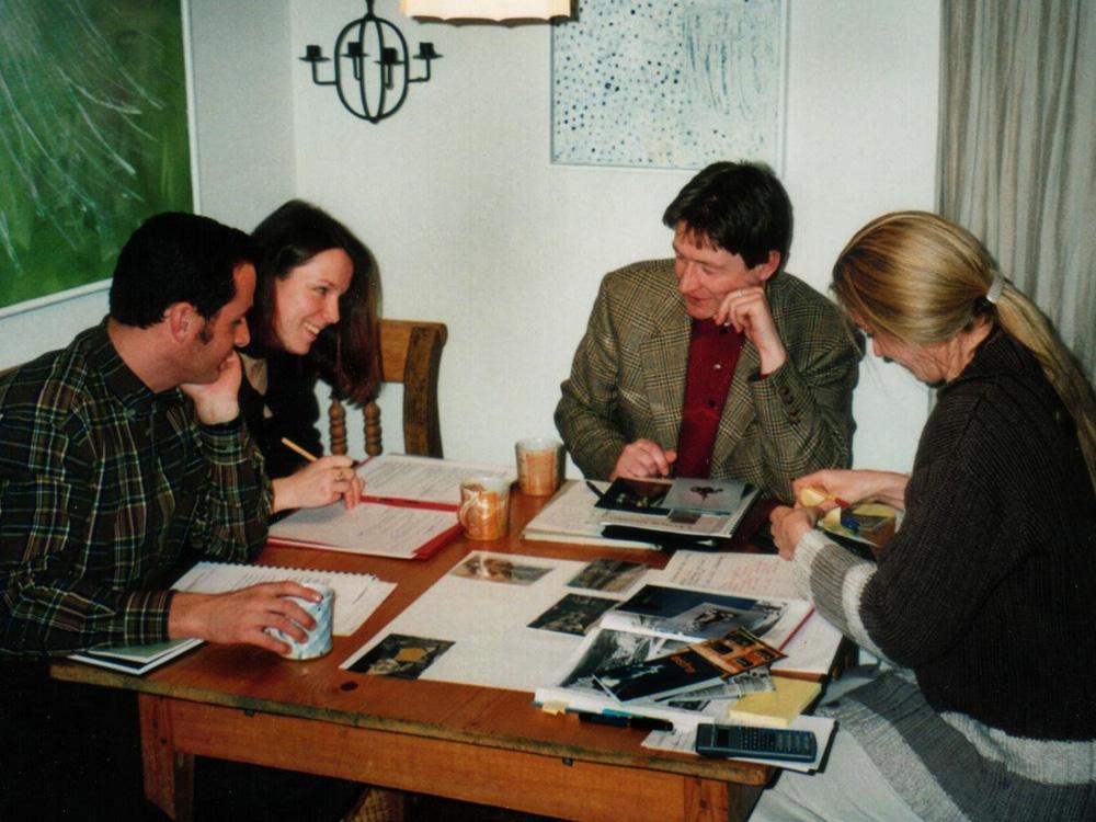 Franz Warter, Marianne Ellmer, Michael Habersatter, Elisabeth Schneider, 1998, Besprechung Kunstzeichen 98