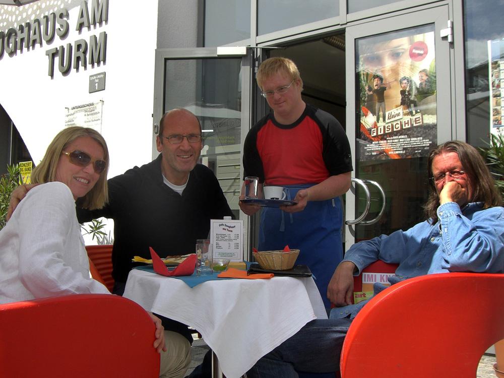 """Elisabeth Schneider, Josef Schneider, Karl Hofer, Michael Habersatter, 2009, """"Lebenshilfe Cafe"""" im Zeughaus am Turm"""