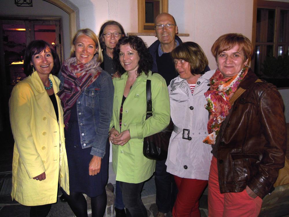 Erika Bott, Elisabeth Schneider, Michael Habersatter, Marianne Ellmer, Josef Schneider, Ilse Sprung, Katja Lassacher, 2012, Pilz Stubn Filzmoos