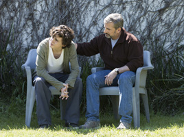 Timothée Chalamet as Nic Sheff and Steve Carell as David Scheff star in BEAUTIFUL BOY